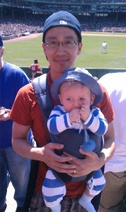 Albert and Andrew at his first ballgame!