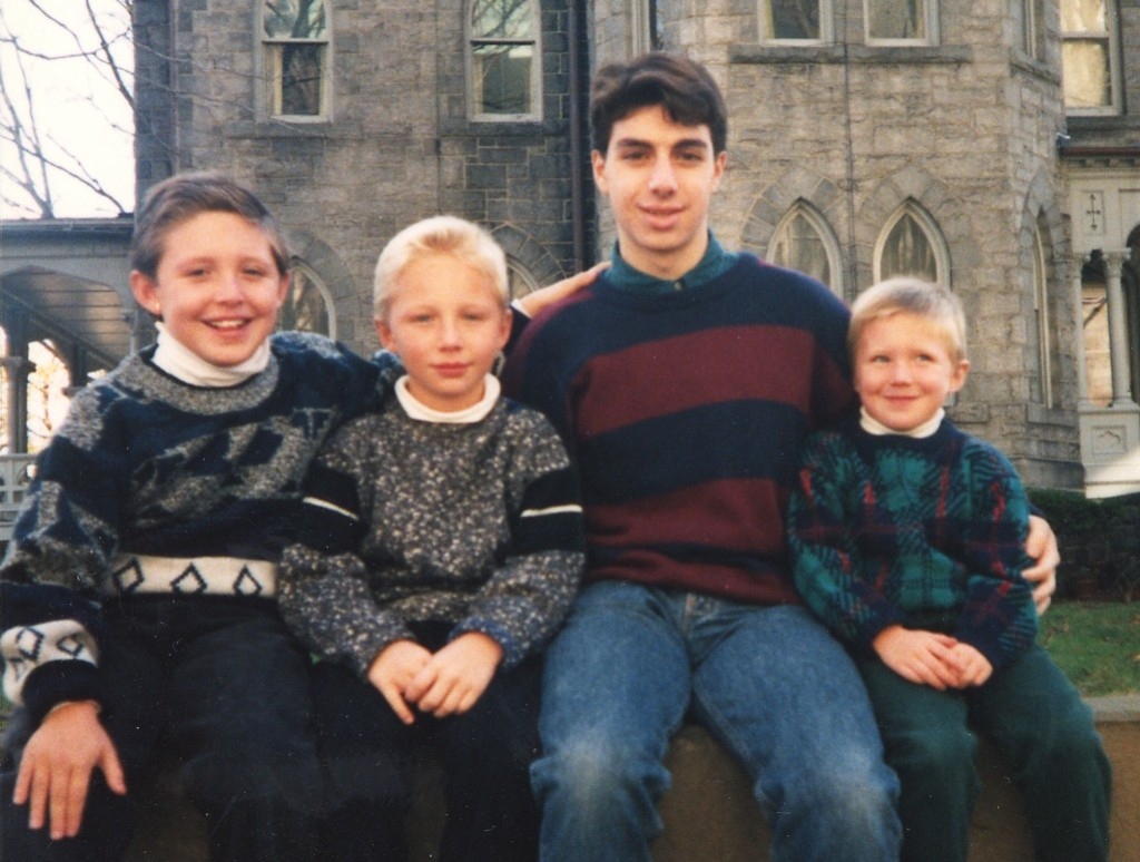 Rich with his three younger brothers